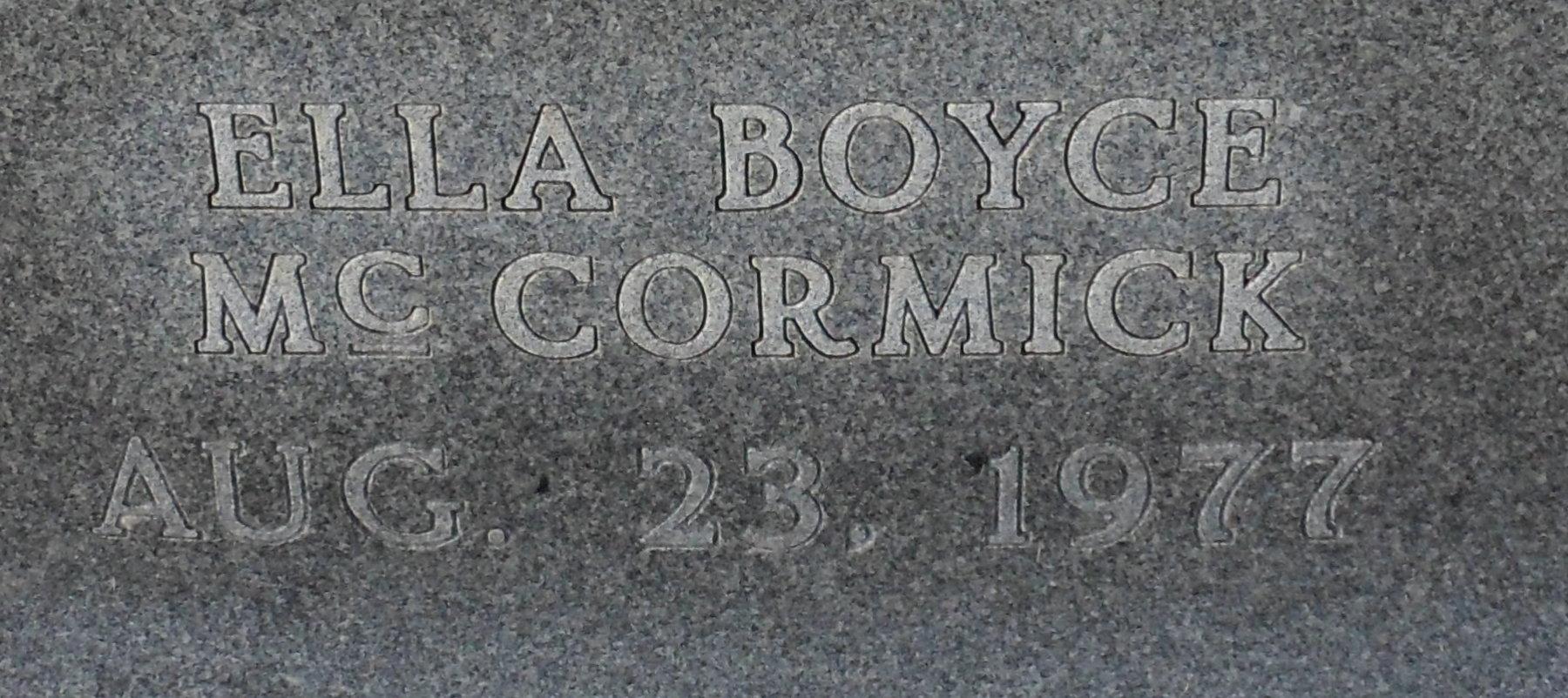 Ella Boyce <i>McCormick</i> Aldridge