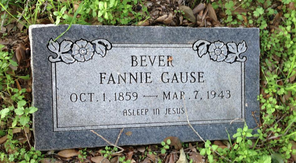 Margaret Francis Fannie <i>Gause</i> Bever