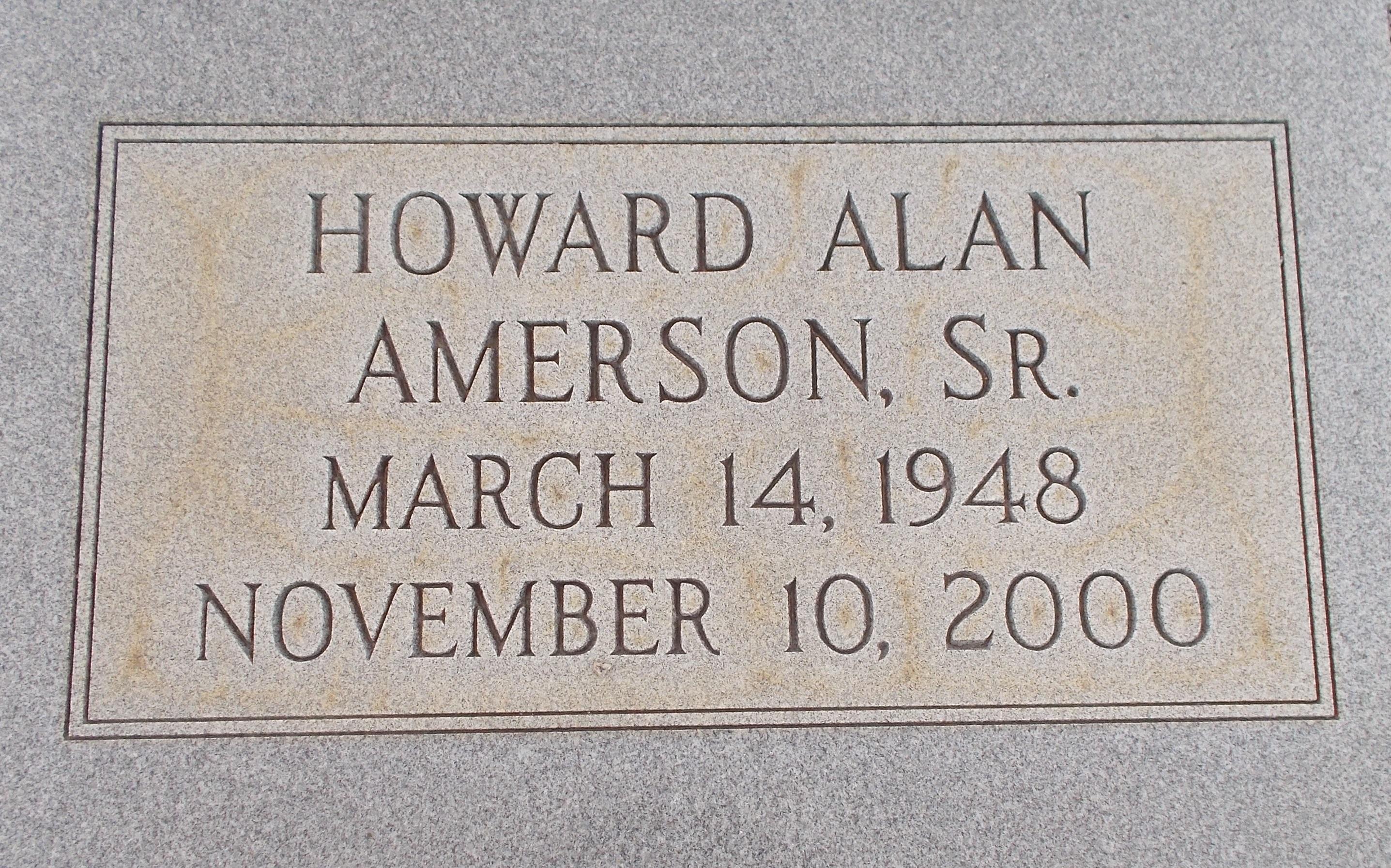 Howard Alan Amerson, Sr
