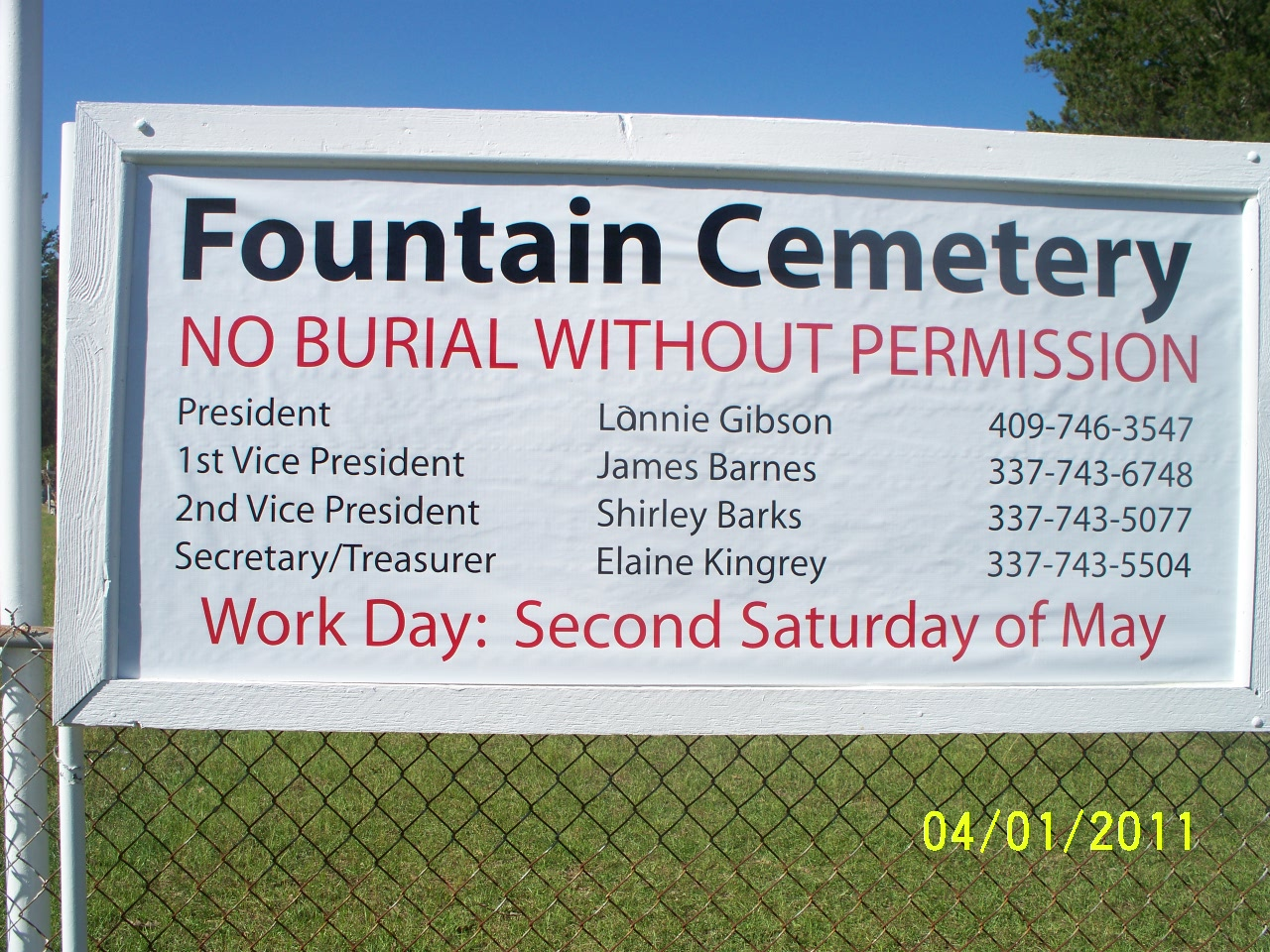 Fountain Cemetery