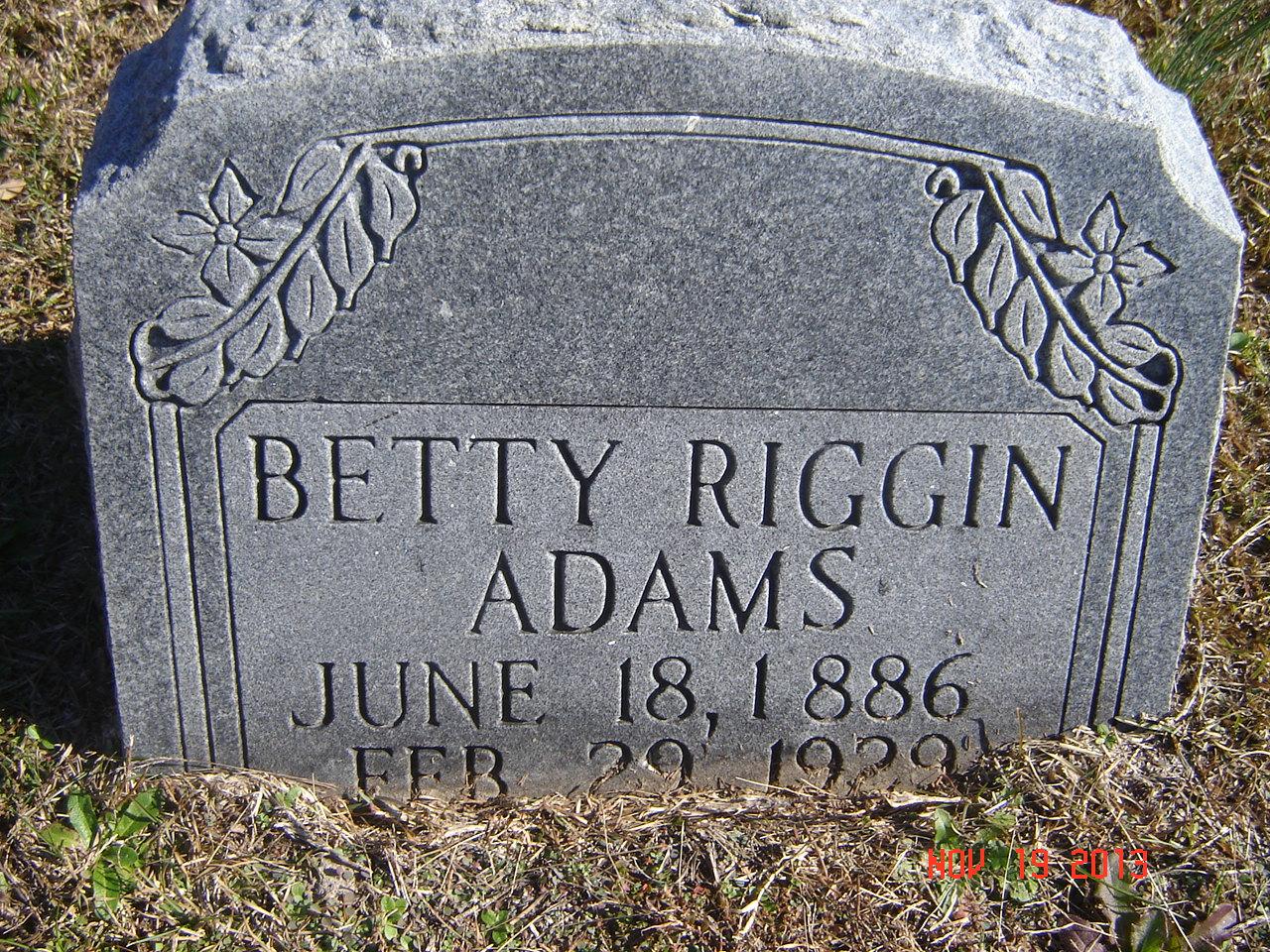 Betty <i>Riggin</i> Adams