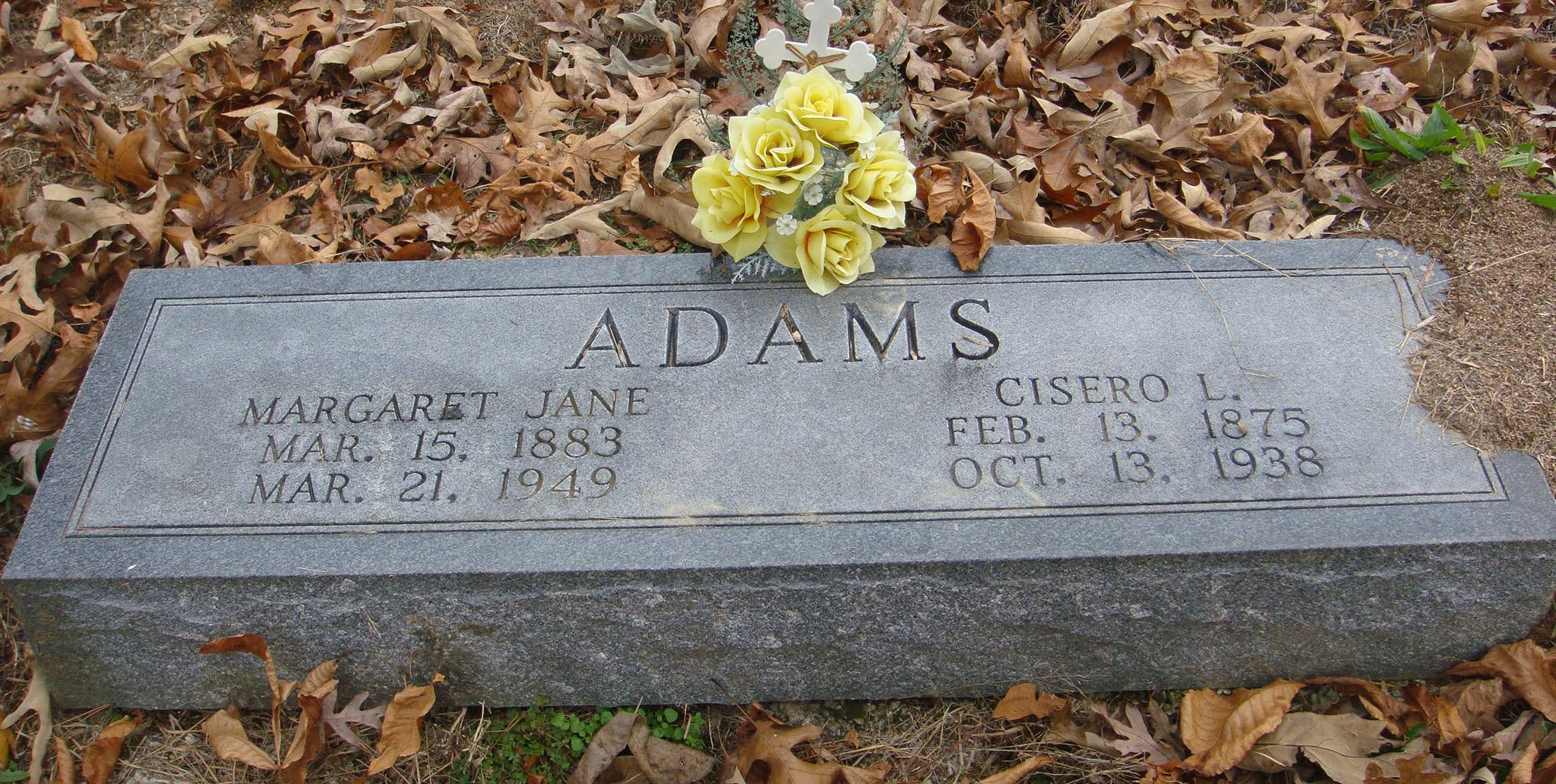 Margaret Jane <i>Bradley</i> Adams
