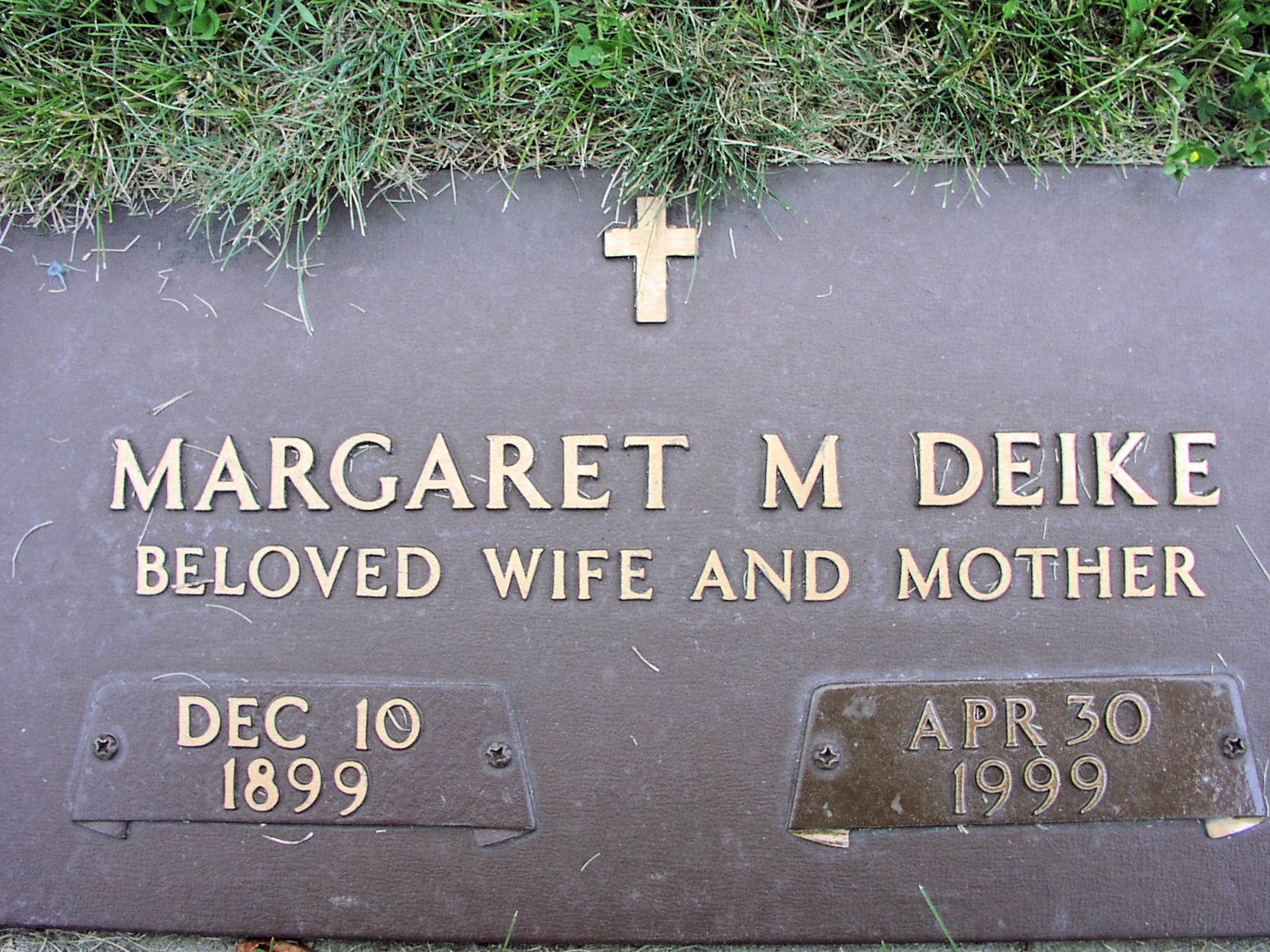 Margaret Marie <i>Sickert</i> Deike