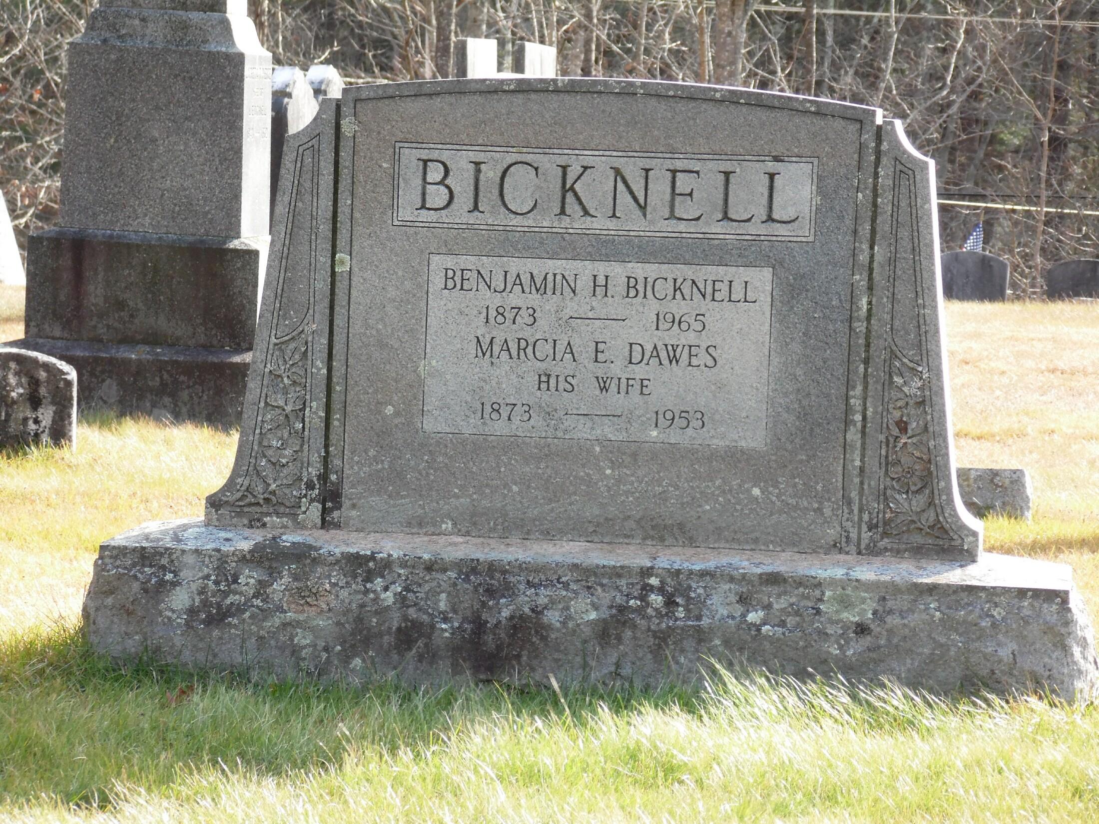 Marcia E. <i>Dawes</i> Bicknell