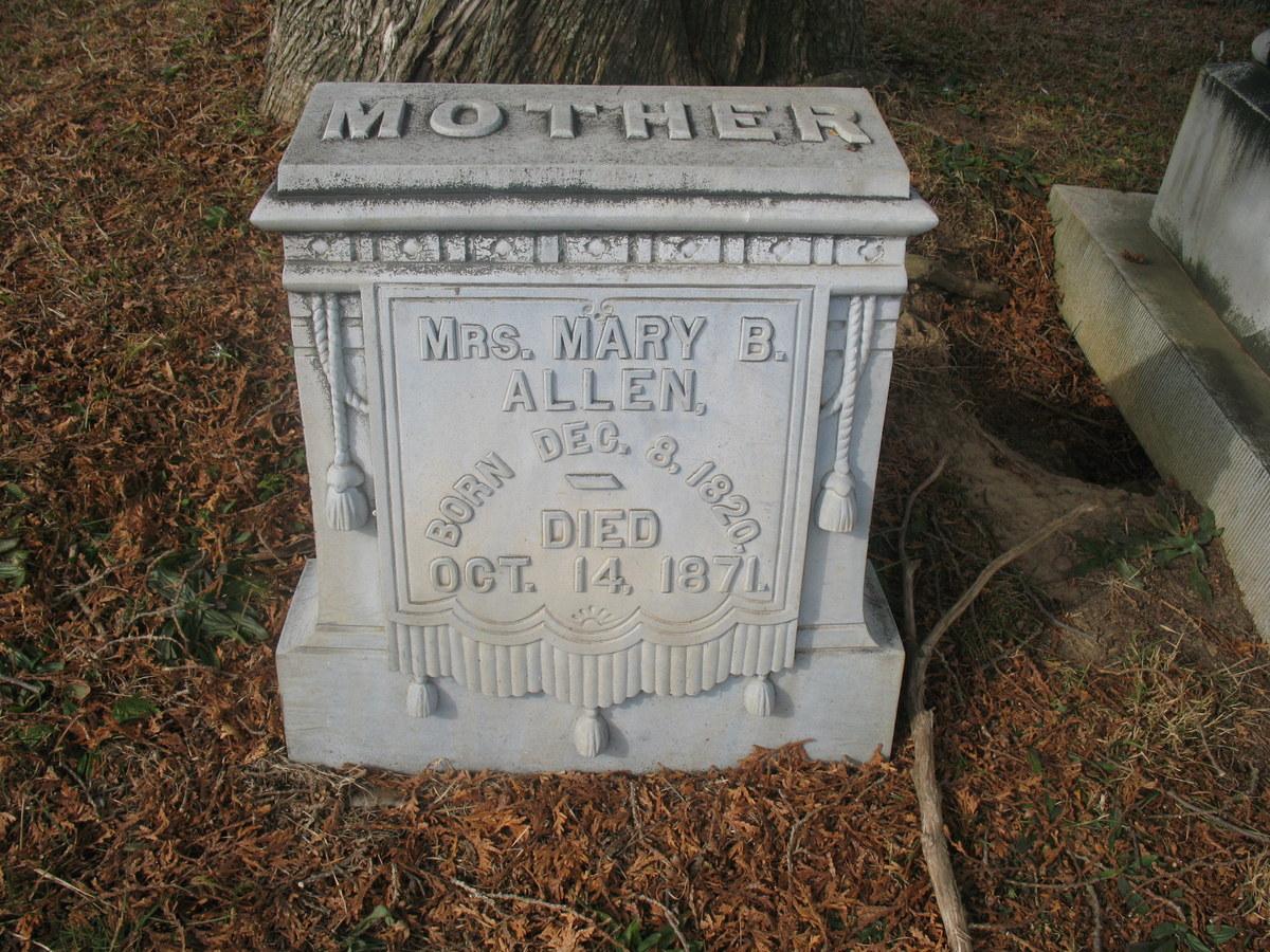 Mary B. <i>Baird</i> Allen