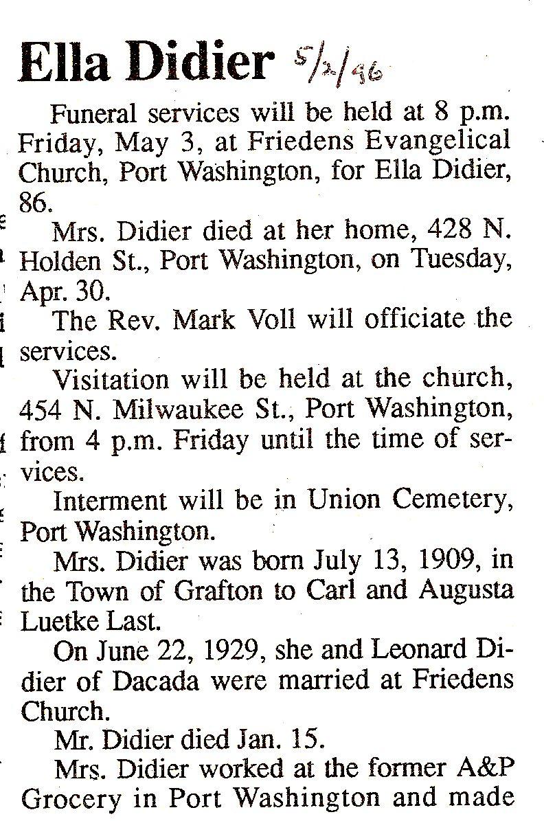 Ella Margaret <i>Last</i> Didier