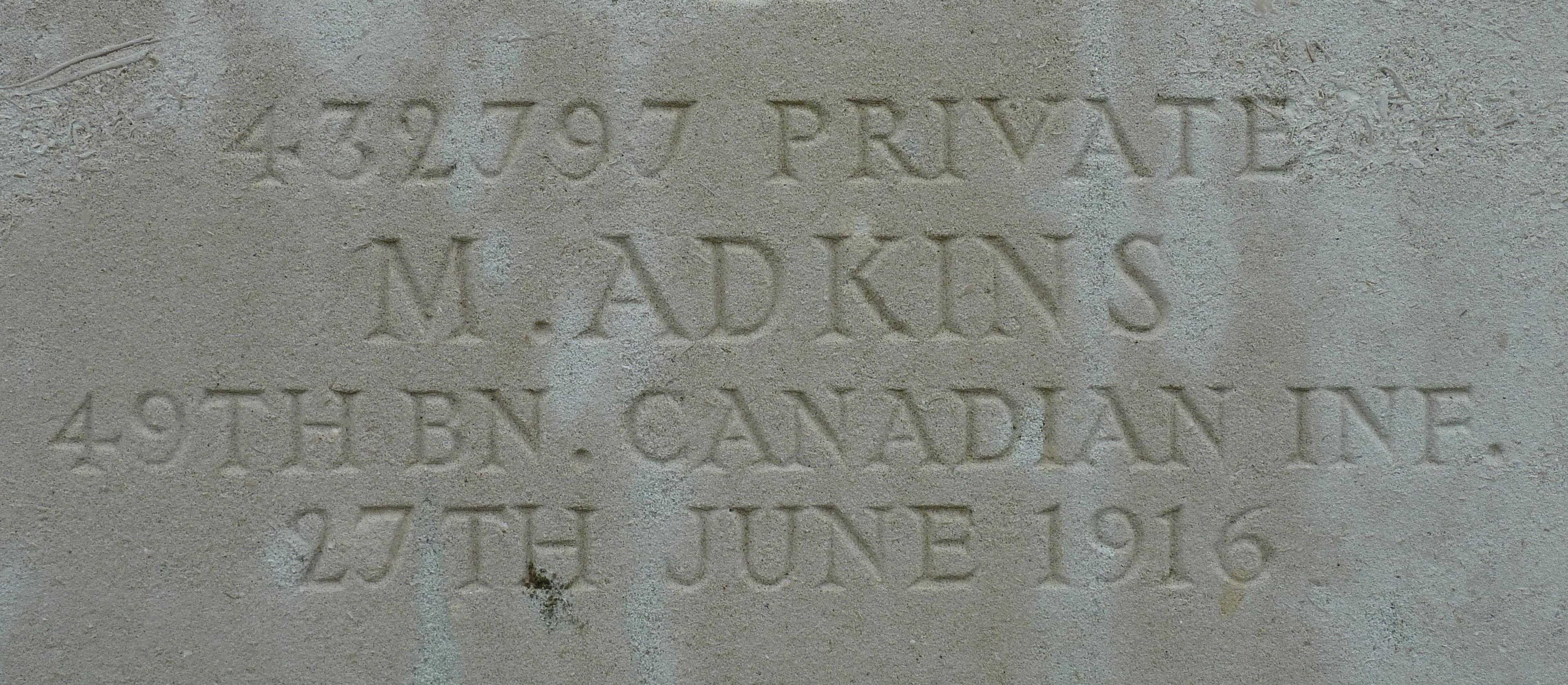 Private Martin Adkins