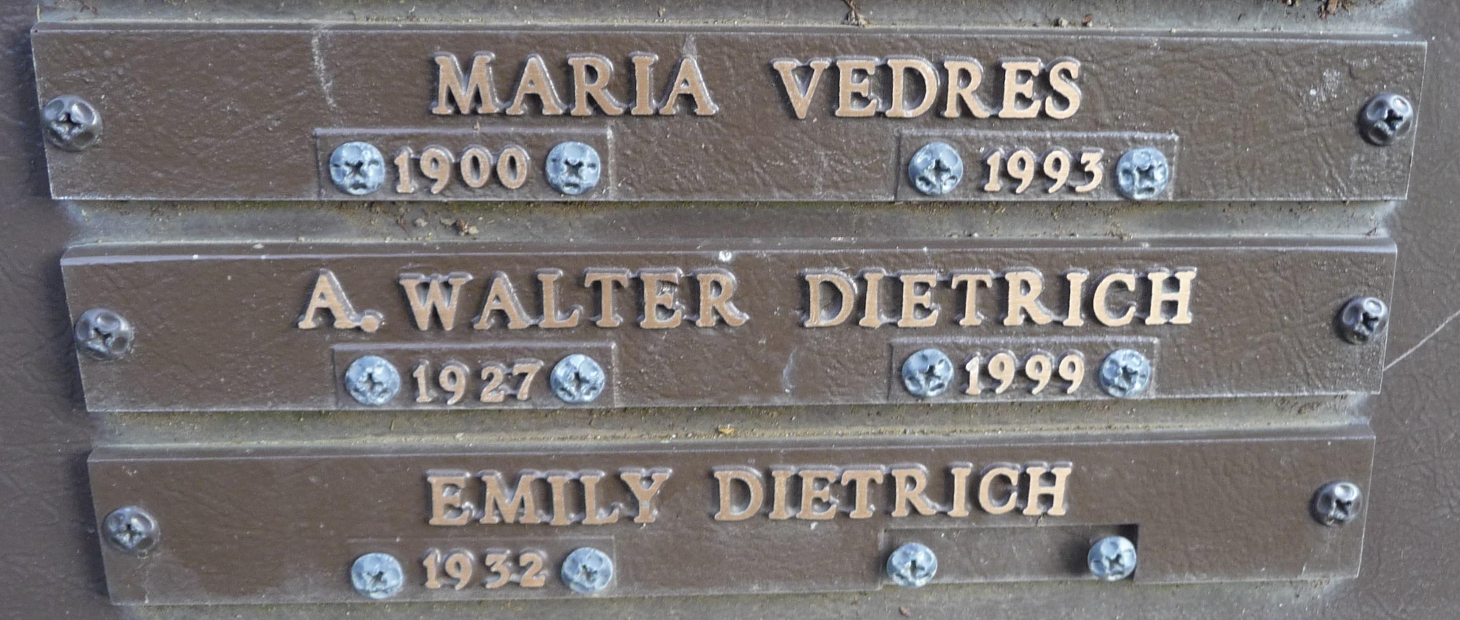 A Walter Dietrich