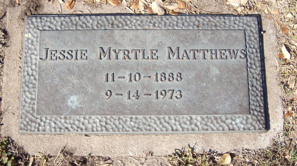 Jessie Myrtle <i>Saulsbury</i> Matthews
