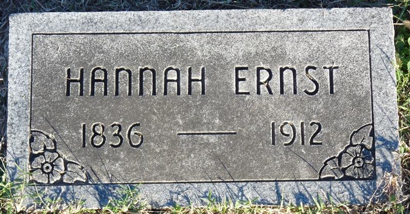 Hannah <i>Vorhis</i> Ernst
