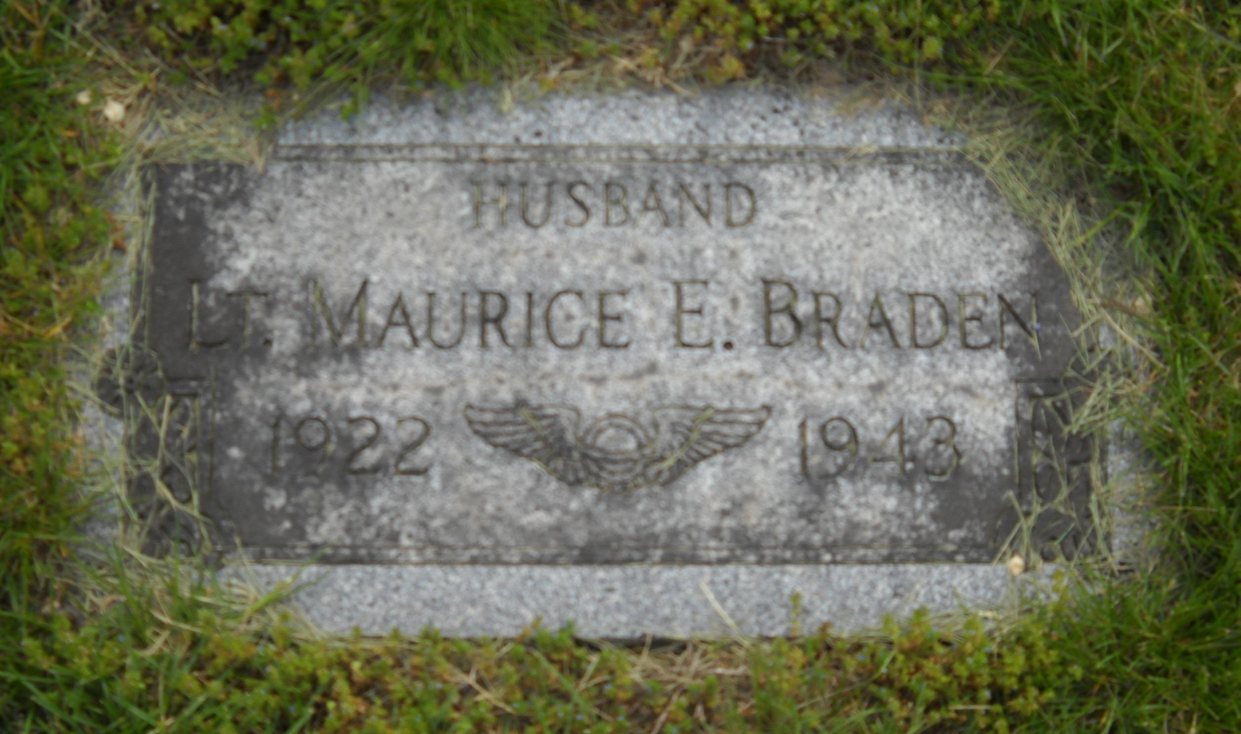 Lieut Maurice Edwin Braden