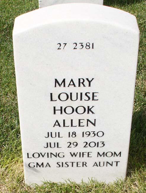 Mary Louise Edith <i>Hook</i> Allen