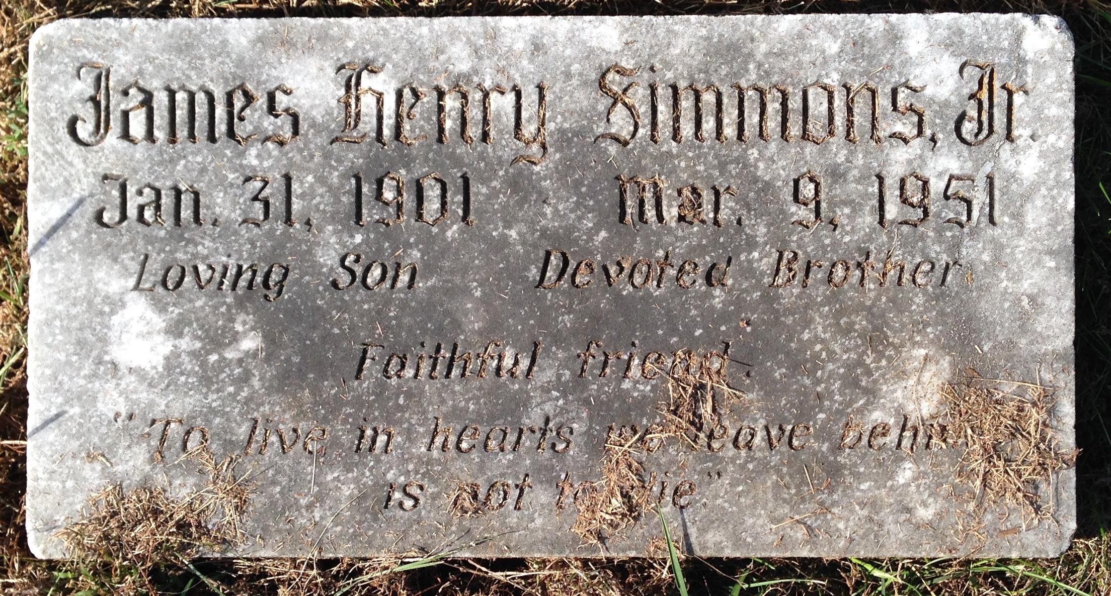James H Simmons, Jr