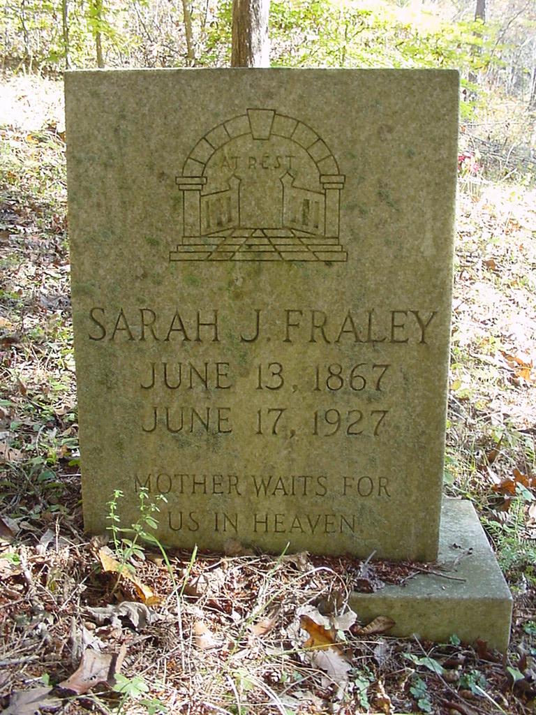 Sarah Jane <i>Rucker</i> Fraley