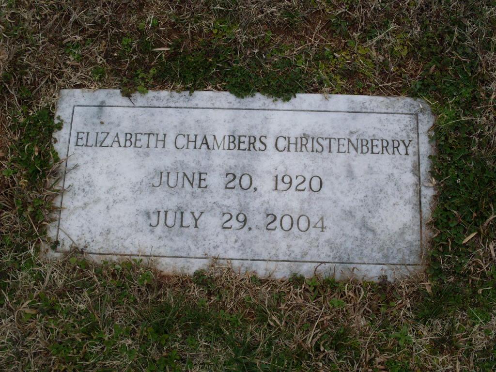 Elizabeth Betty <i>Chambers</i> Christenberry