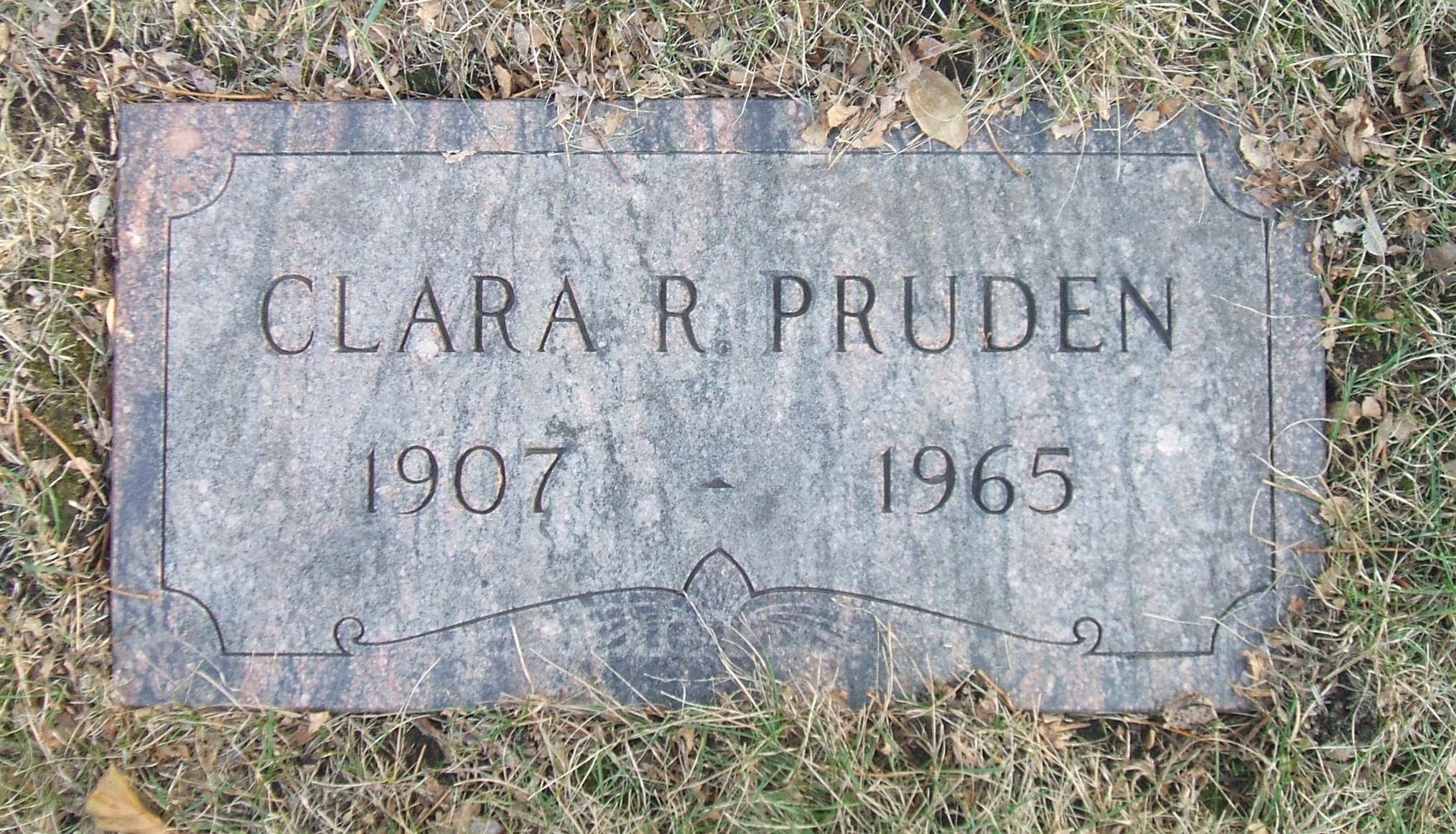 Clara R Pruden