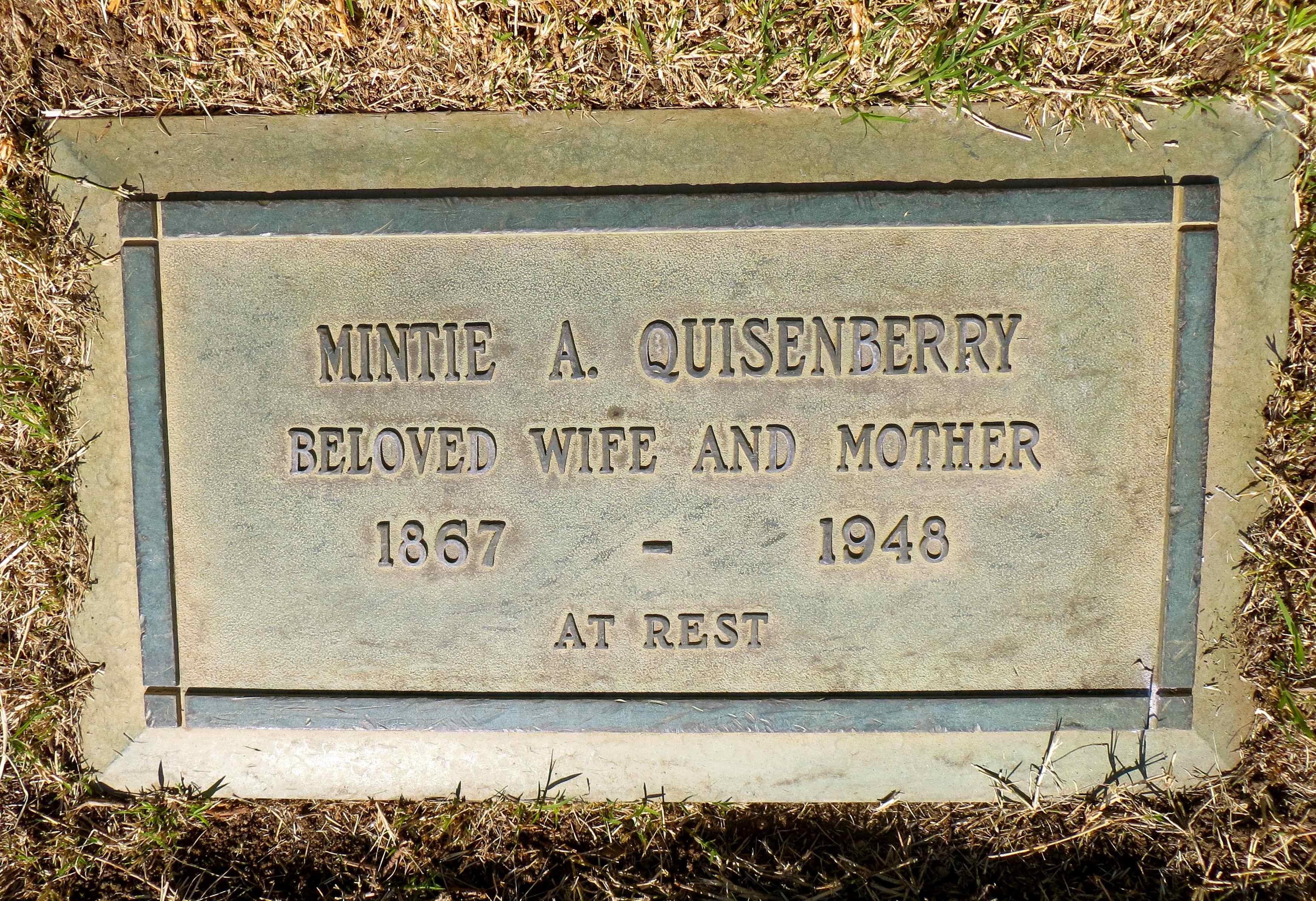 Mintie Ann <i>Chaney</i> Quisenberry