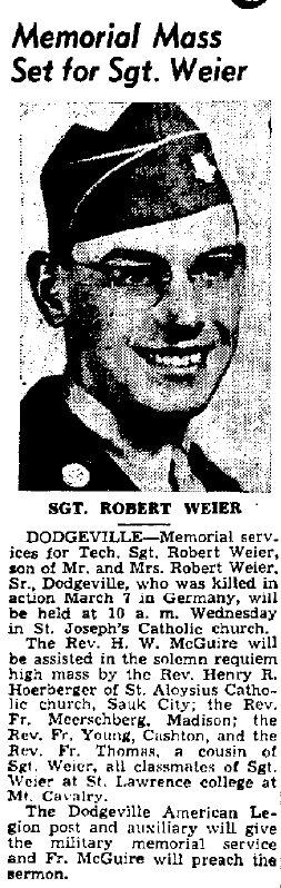 Robert Peter Weier, Jr