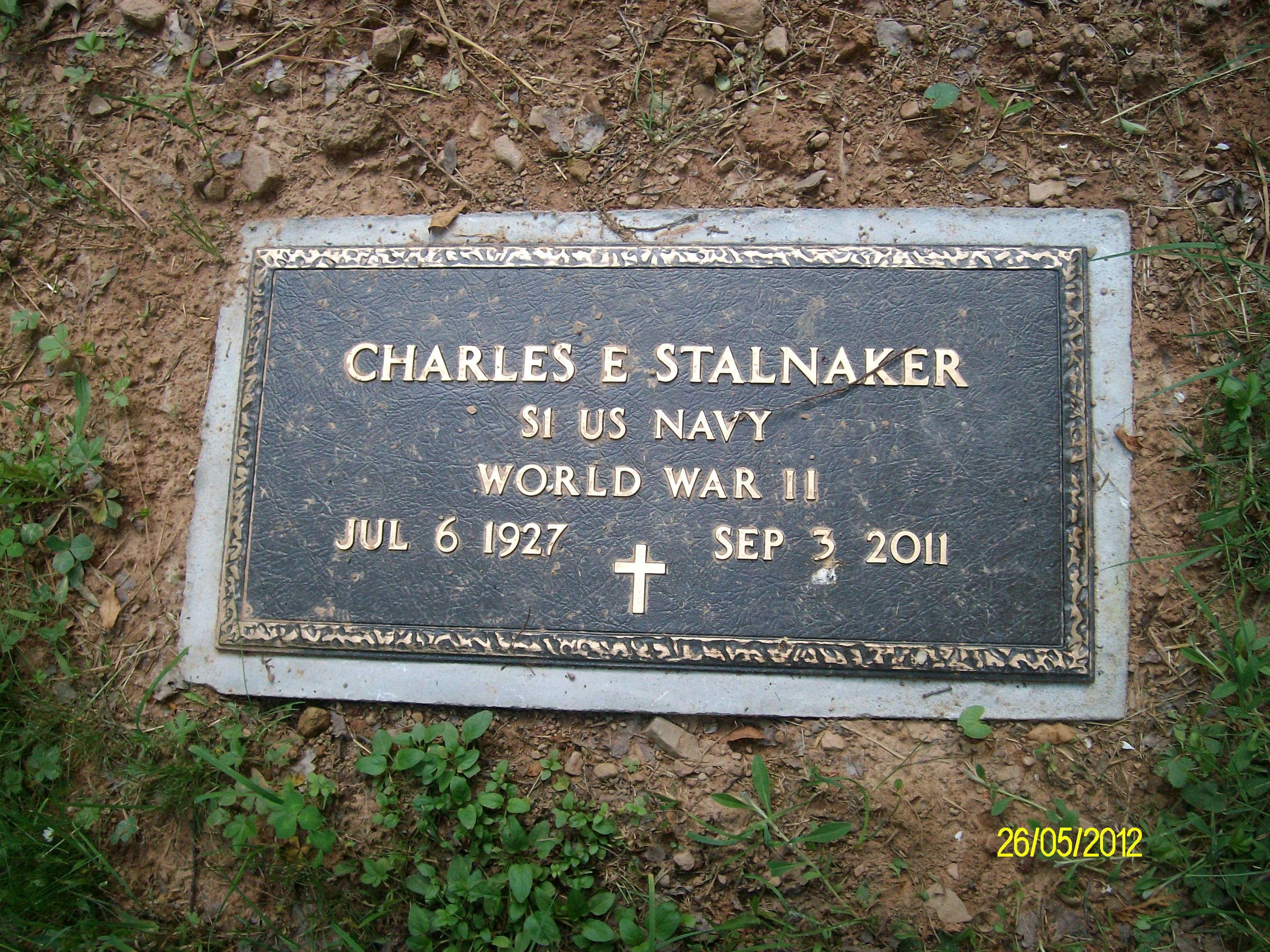 Charles Edward Buck Stalnaker Find A Grave Memorial