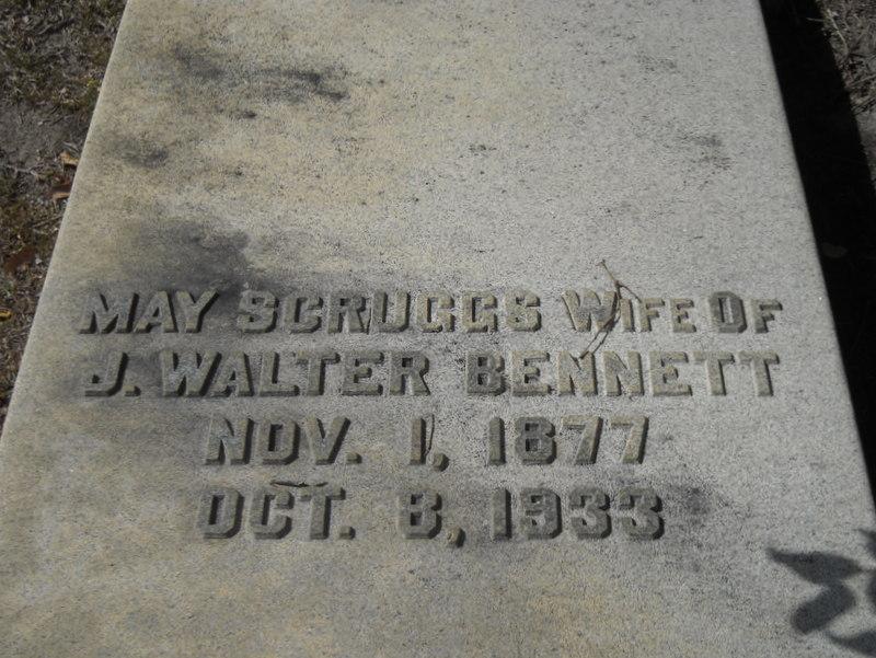 Margarette Frances May <i>Scruggs</i> Bennett
