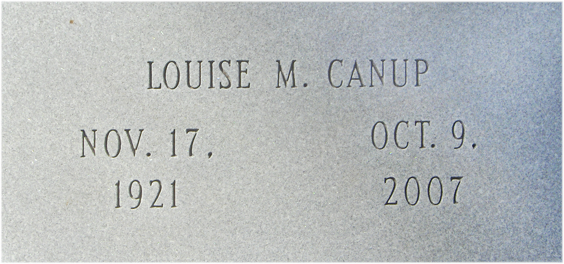 Mary Louise <i>McGinnis</i> Canup