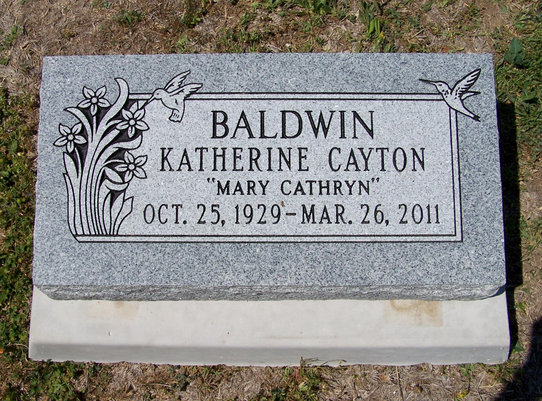 Katherine Mary Cathryn <i>Cayton</i> Baldwin