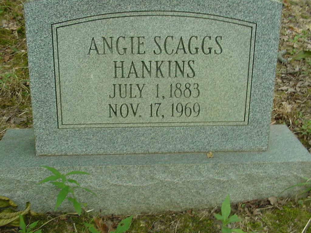Angie <i>Scaggs</i> Hankins