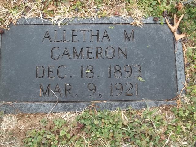 Alletha M Cameron