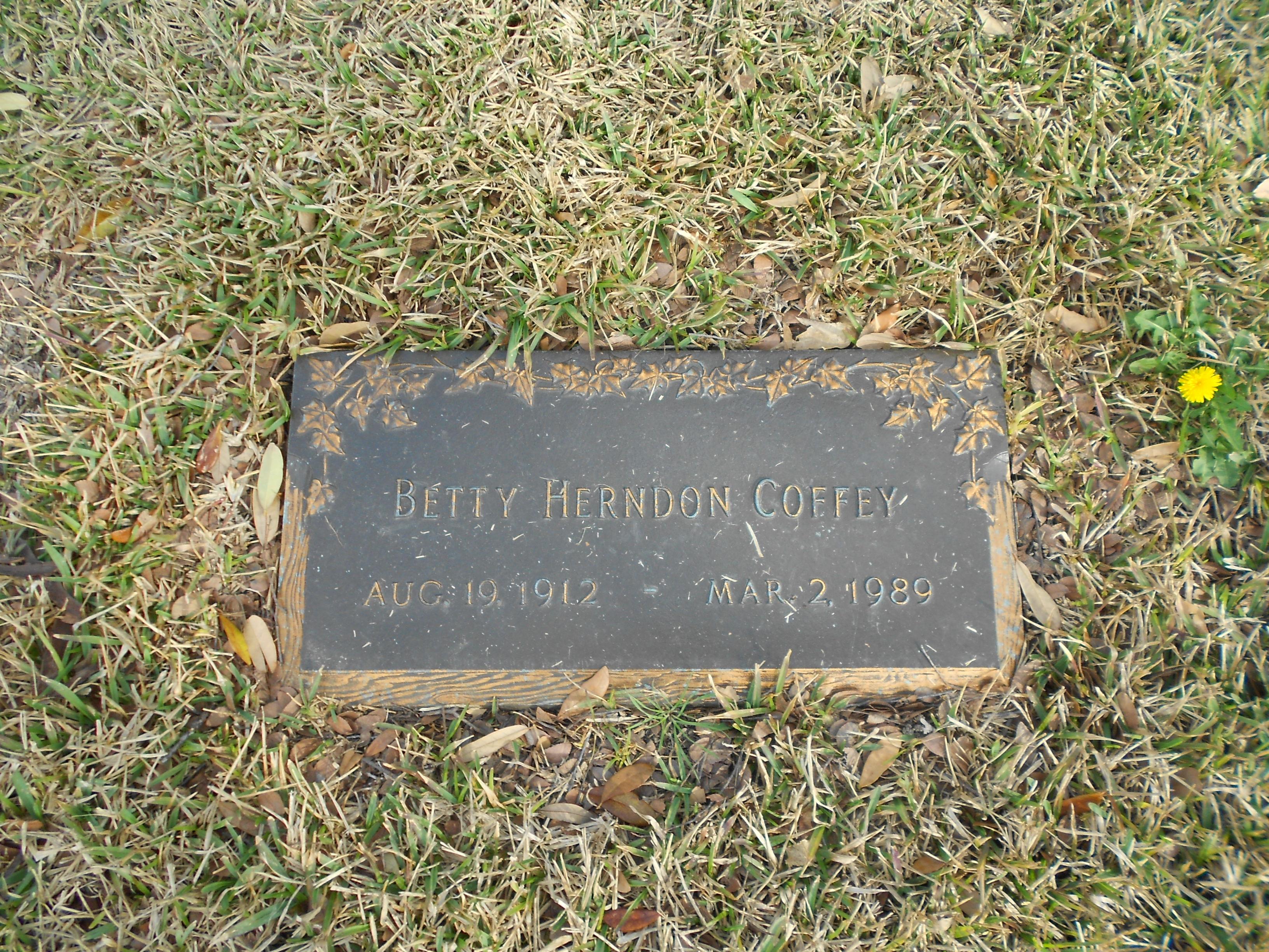 Betty <i>Herndon</i> Coffey
