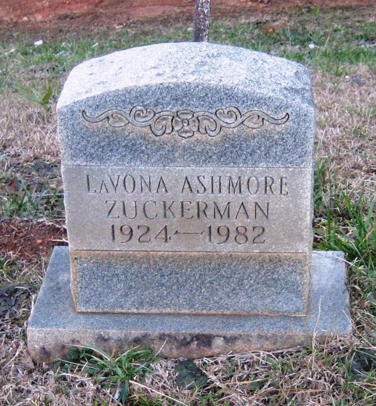 Lavona <i>Ashmore</i> Zucherman