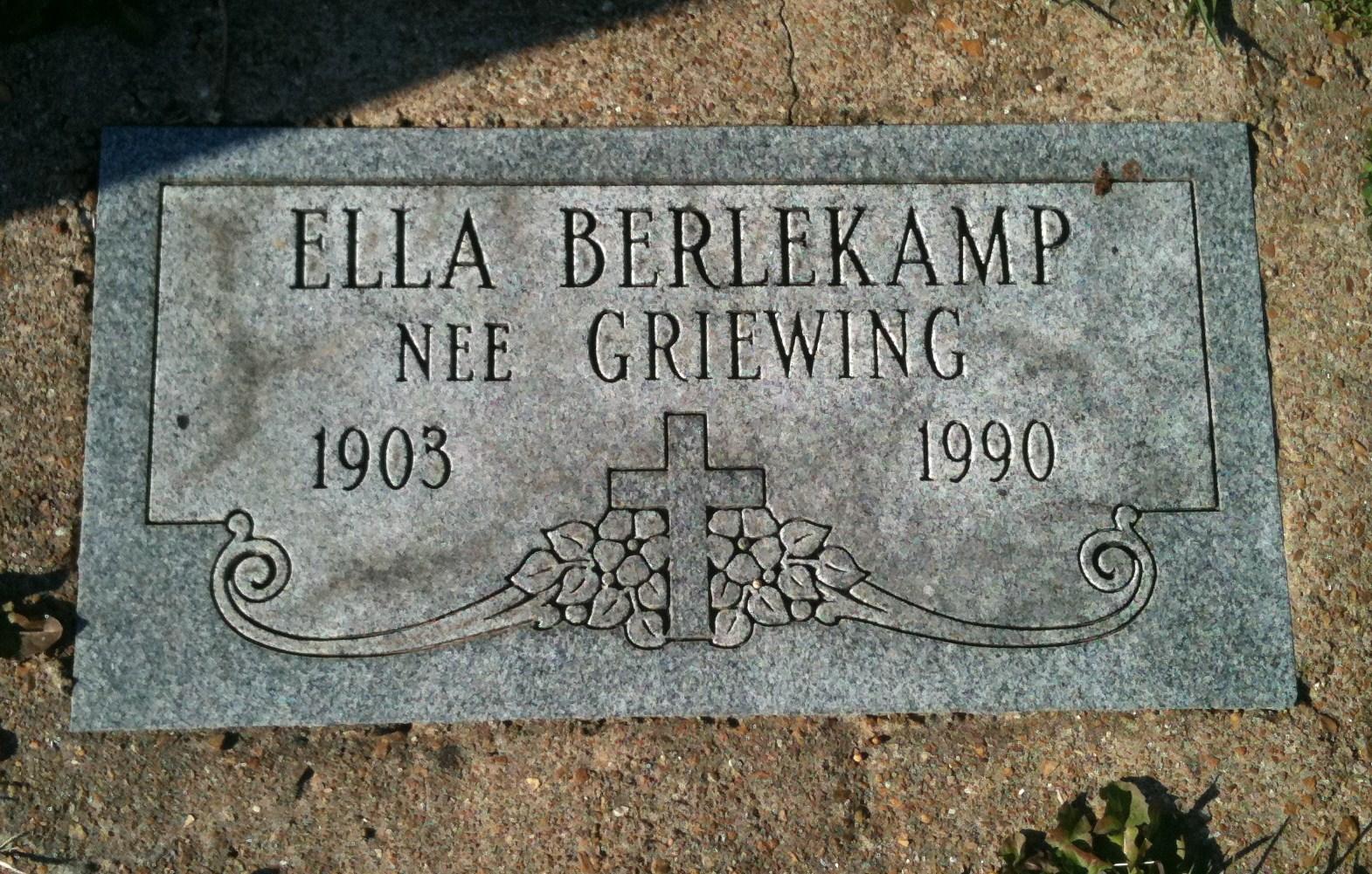 Ella L <i>Griewing</i> Berlekamp