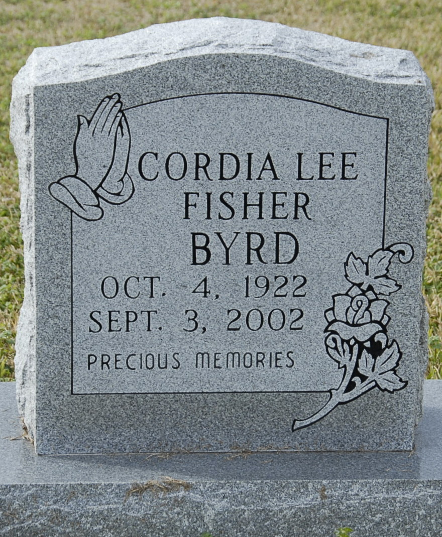 Cordia Lee Billie <i>Fisher</i> Byrd