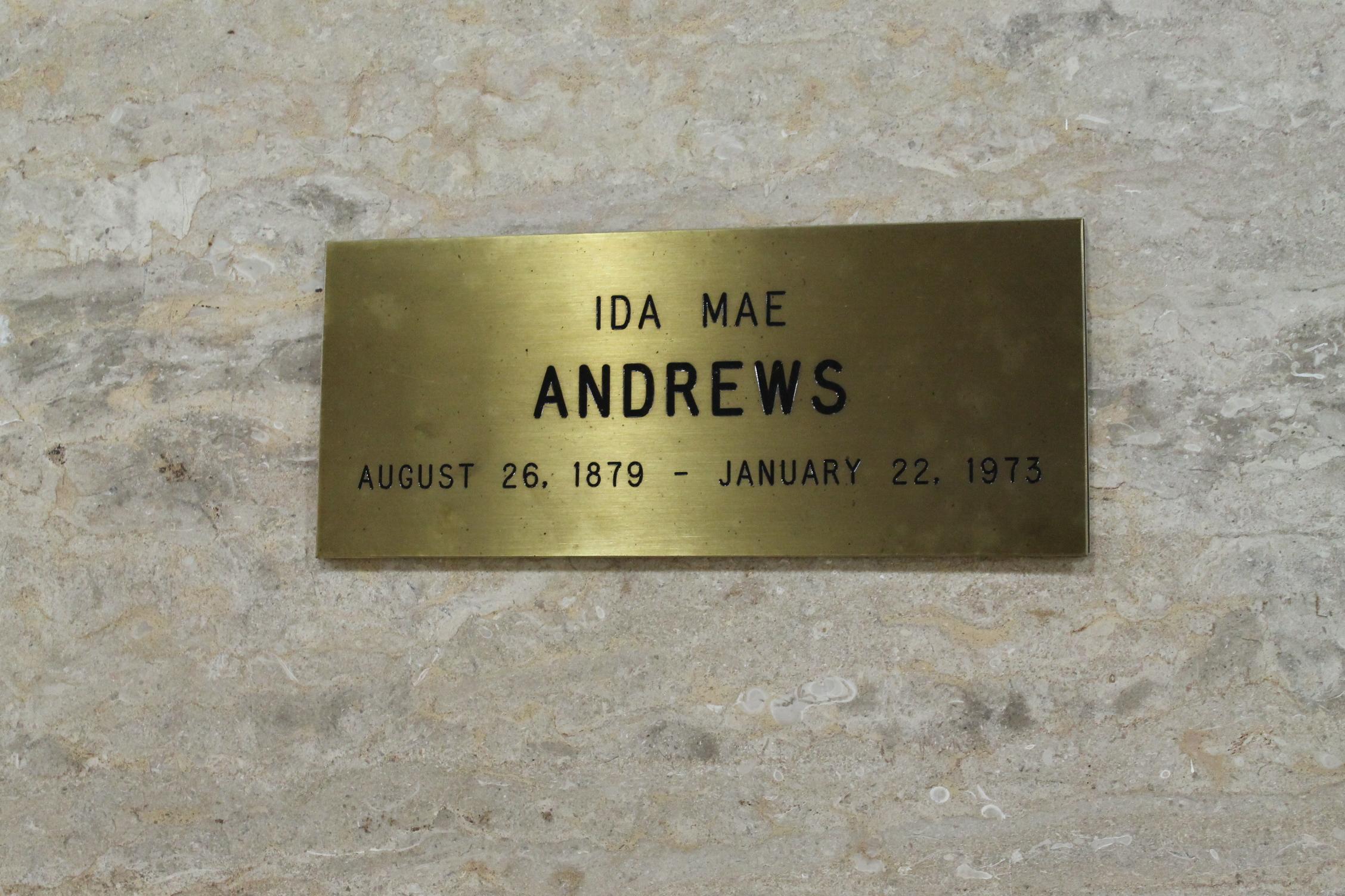 Ida Mae <i>Shelton</i> Andrews