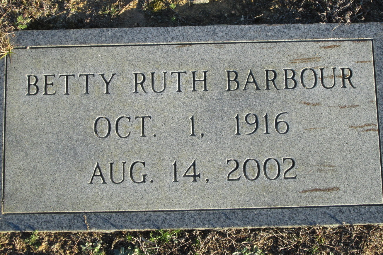 Betty Ruth <i>Barber</i> Barbour
