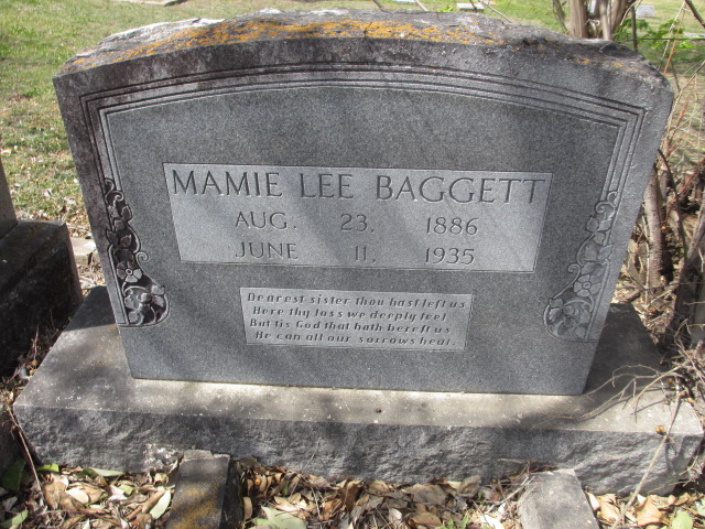 Mamie Lee <i>Moses</i> Baggett