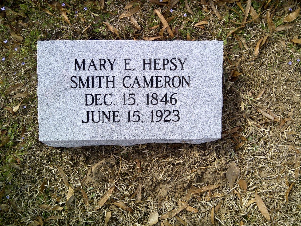 Mary E. Hepsy Mollie <i>Smith</i> Cameron