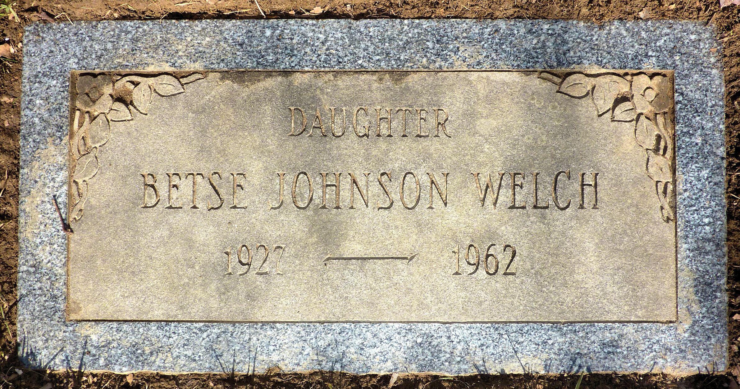 Betse Brown Betsy <i>Johnson</i> Welch