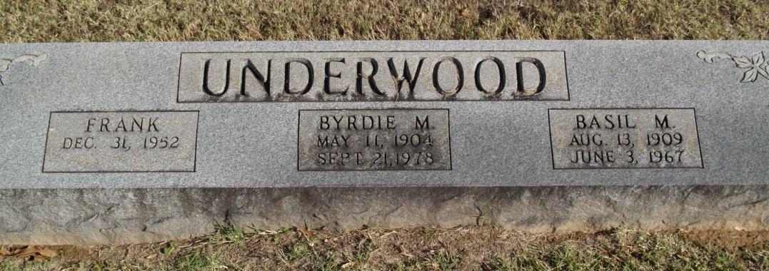Frankie Mayo Underwood