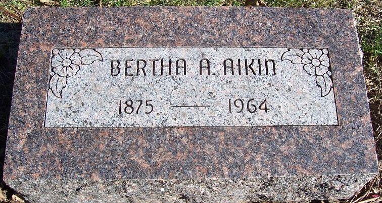 Bertha Agnes <i>Linder</i> Aikin