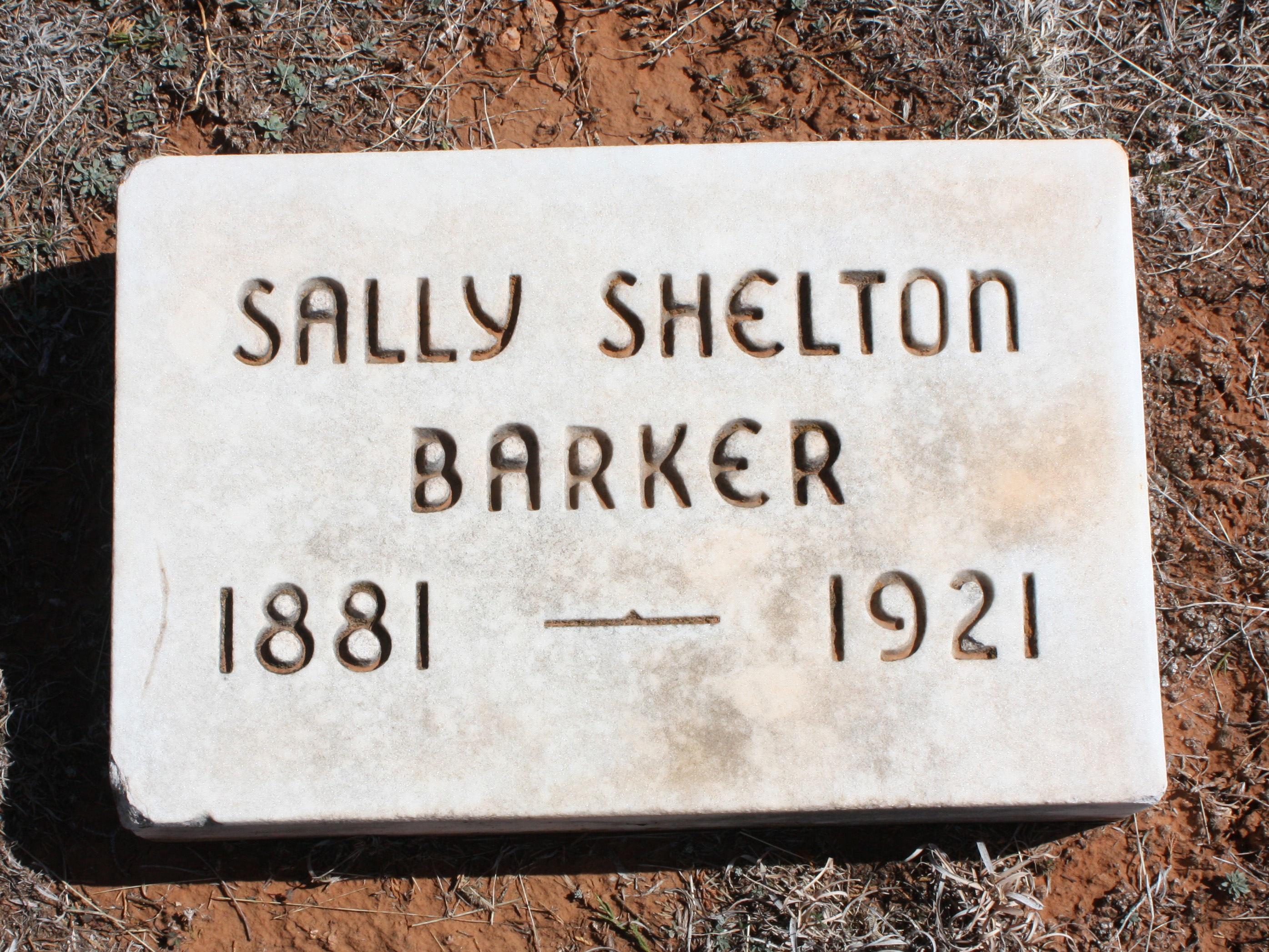 Sally <i>Shelton</i> Barker