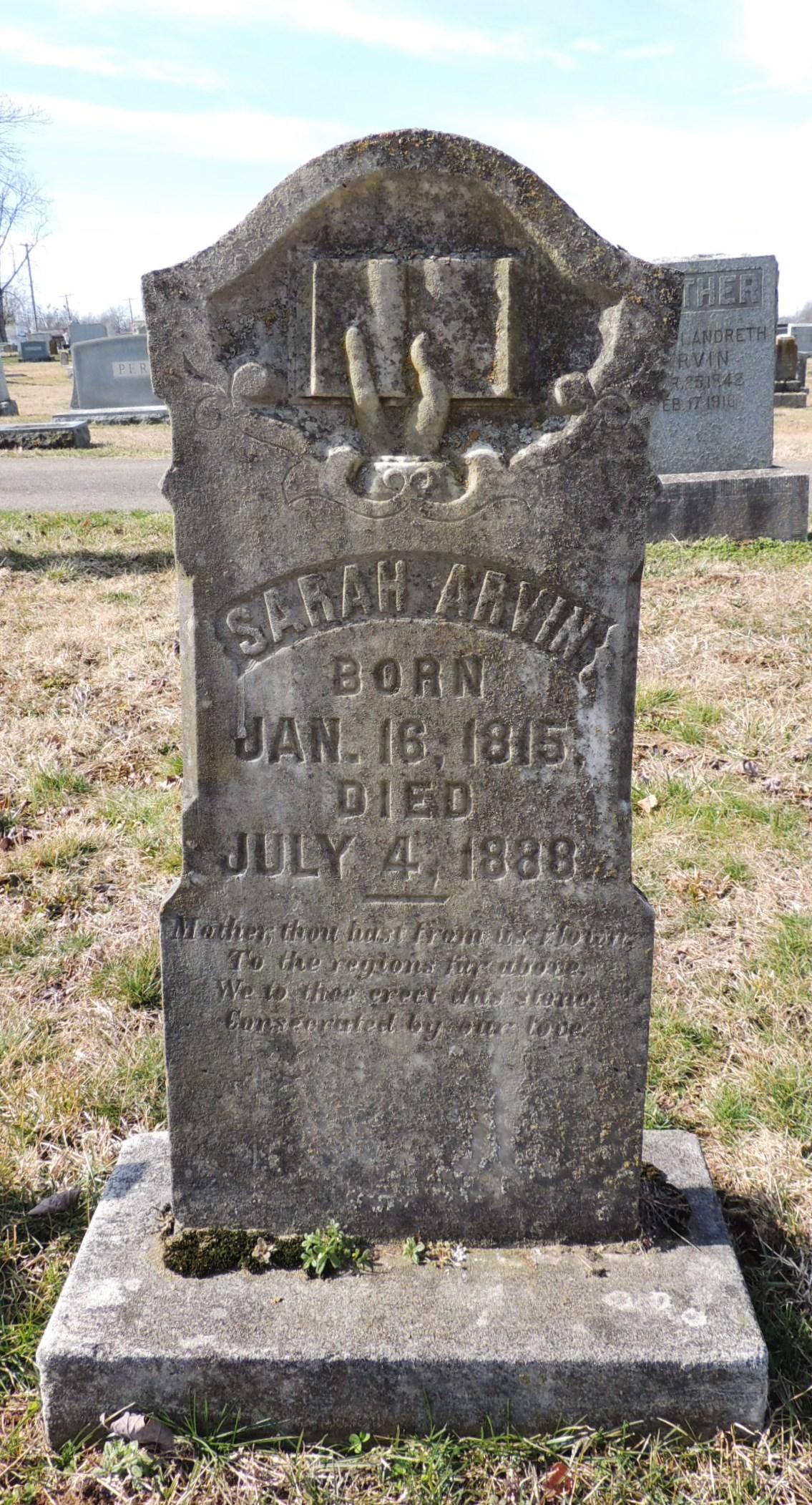 Sarah <i>Tubbs</i> Arvin