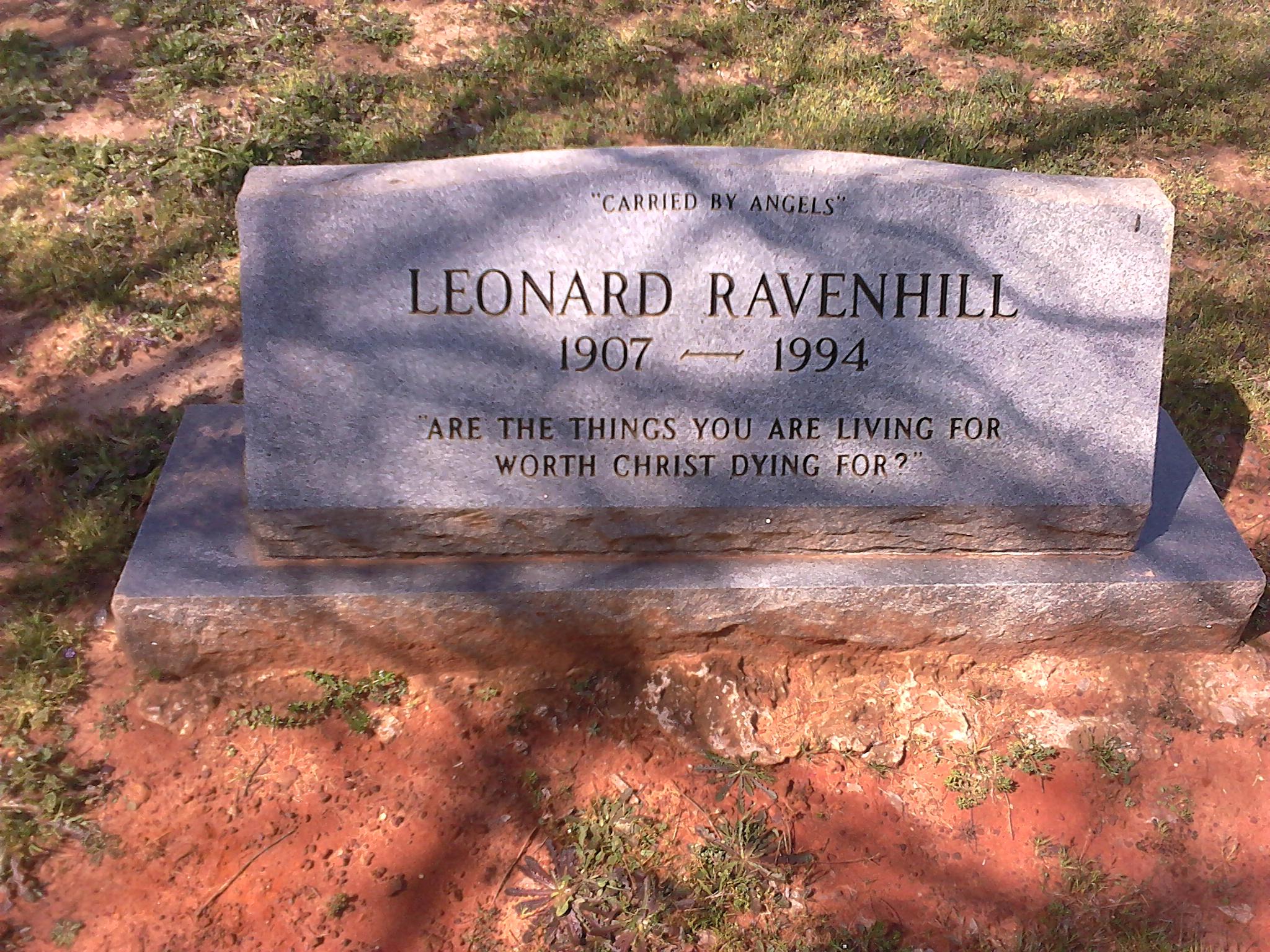 Epitaffio Di Leonard Ravenhill CYYqTUsRm