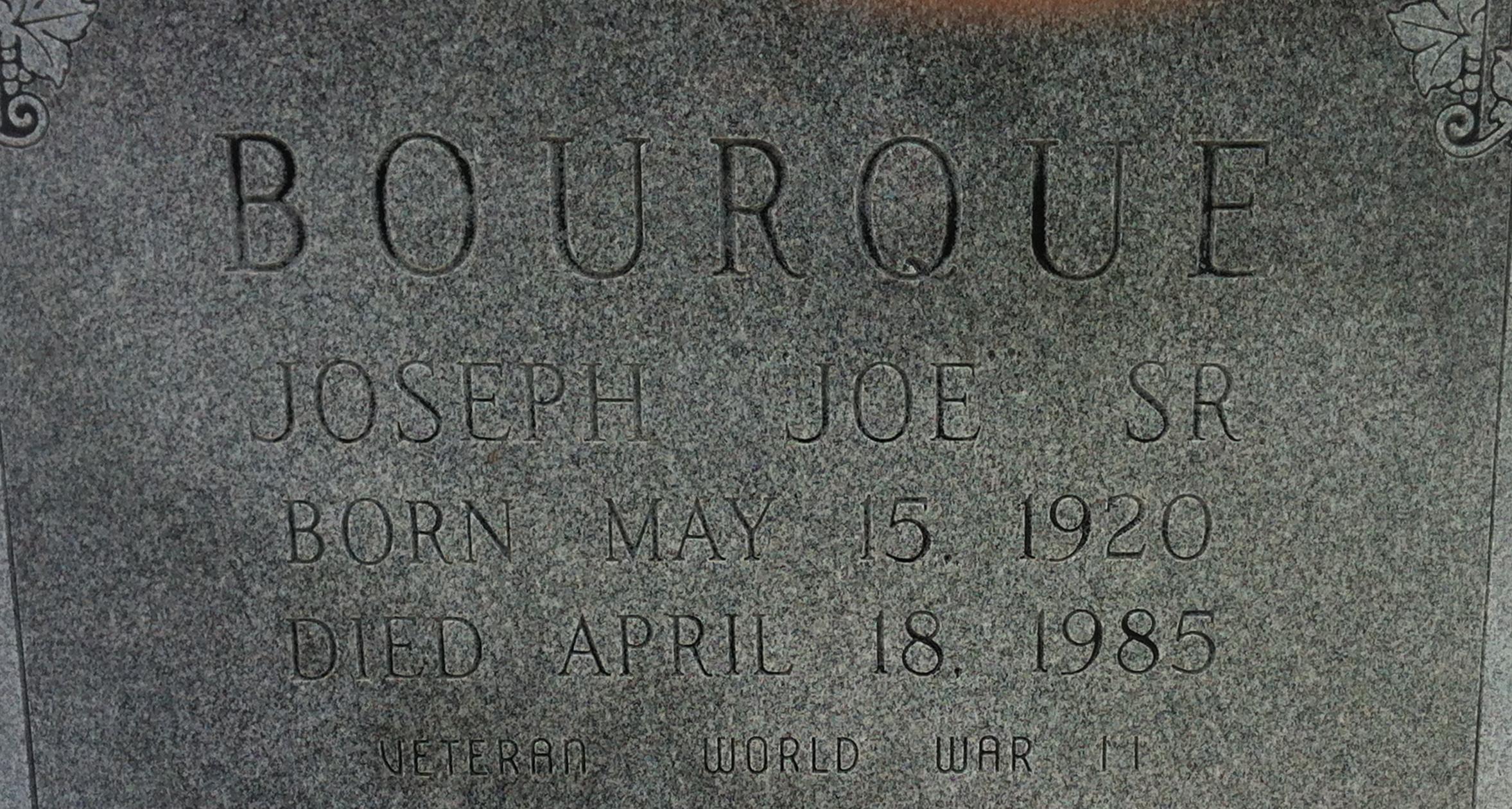 Joseph Joe Bourque, Sr