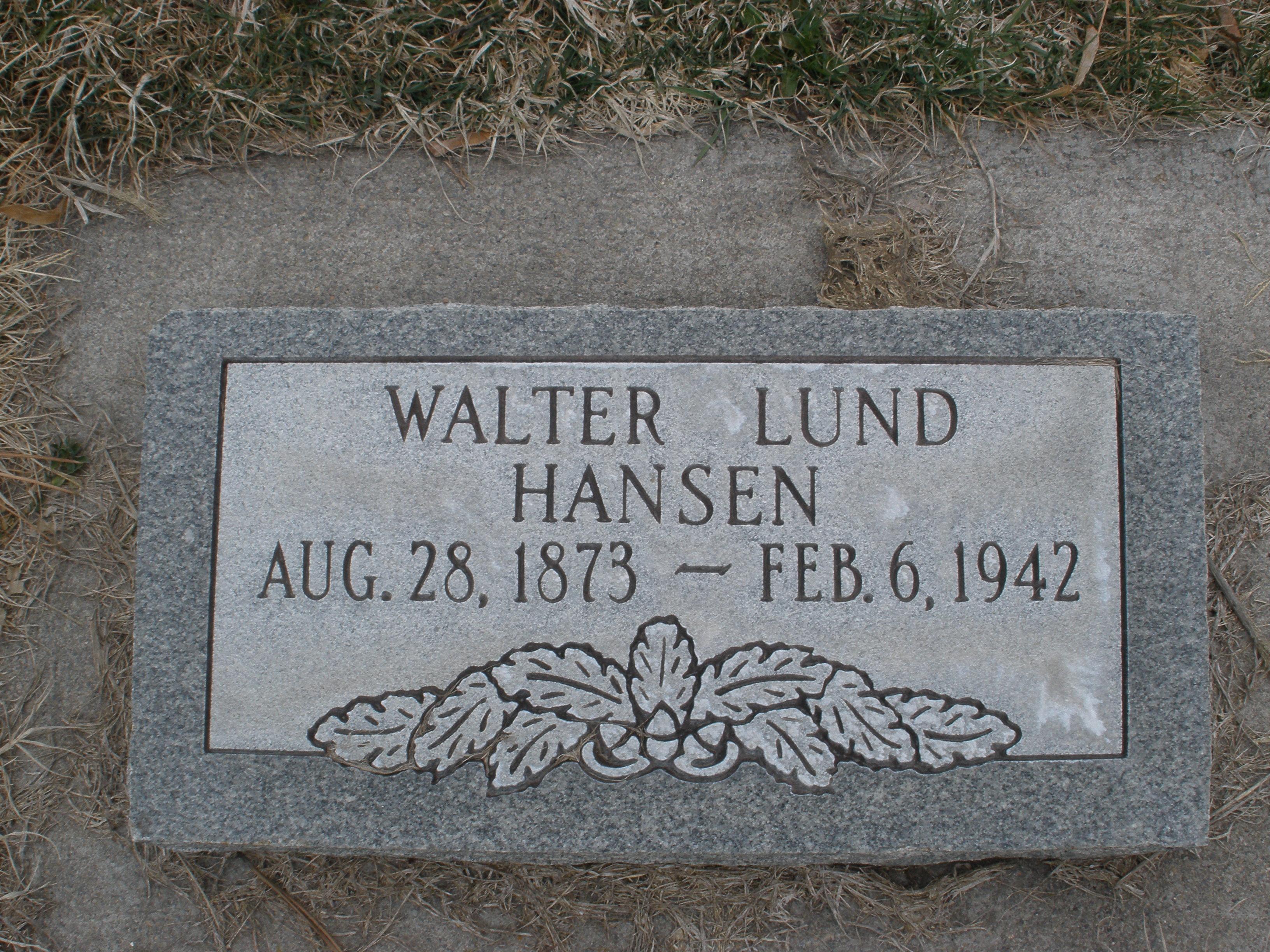 Walter Lund Hansen, Sr