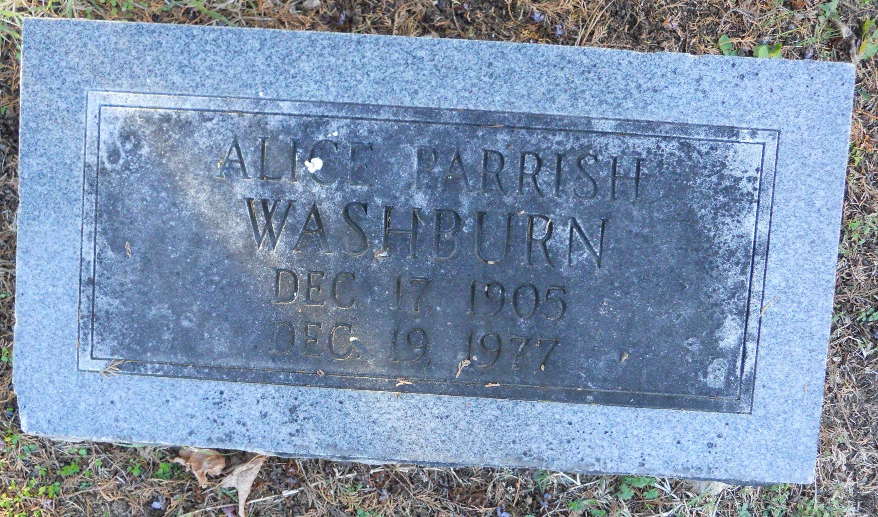 Alice <i>Parrish</i> Washburn