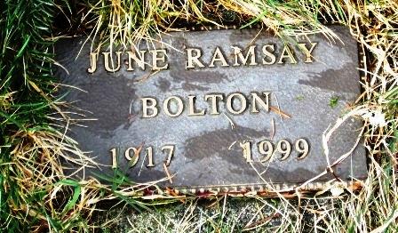 June <i>Ramsay</i> Bolton