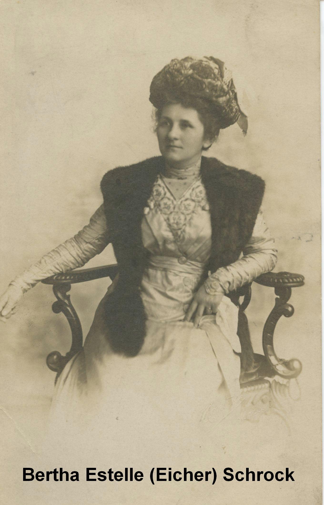Bertha Estelle Birdie <i>Eicher</i> Schrock