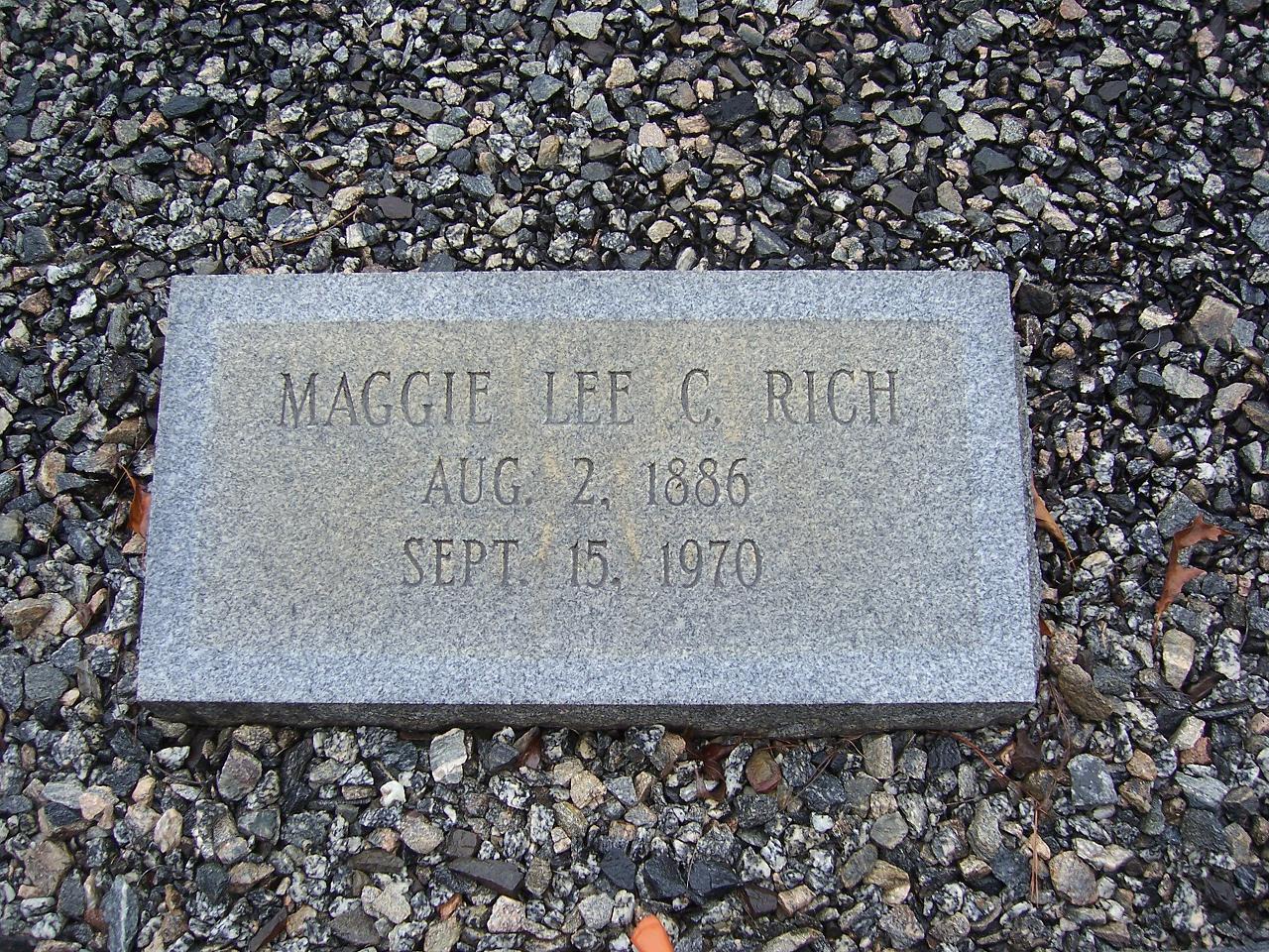 Maggie Lee <i>Collins</i> Rich