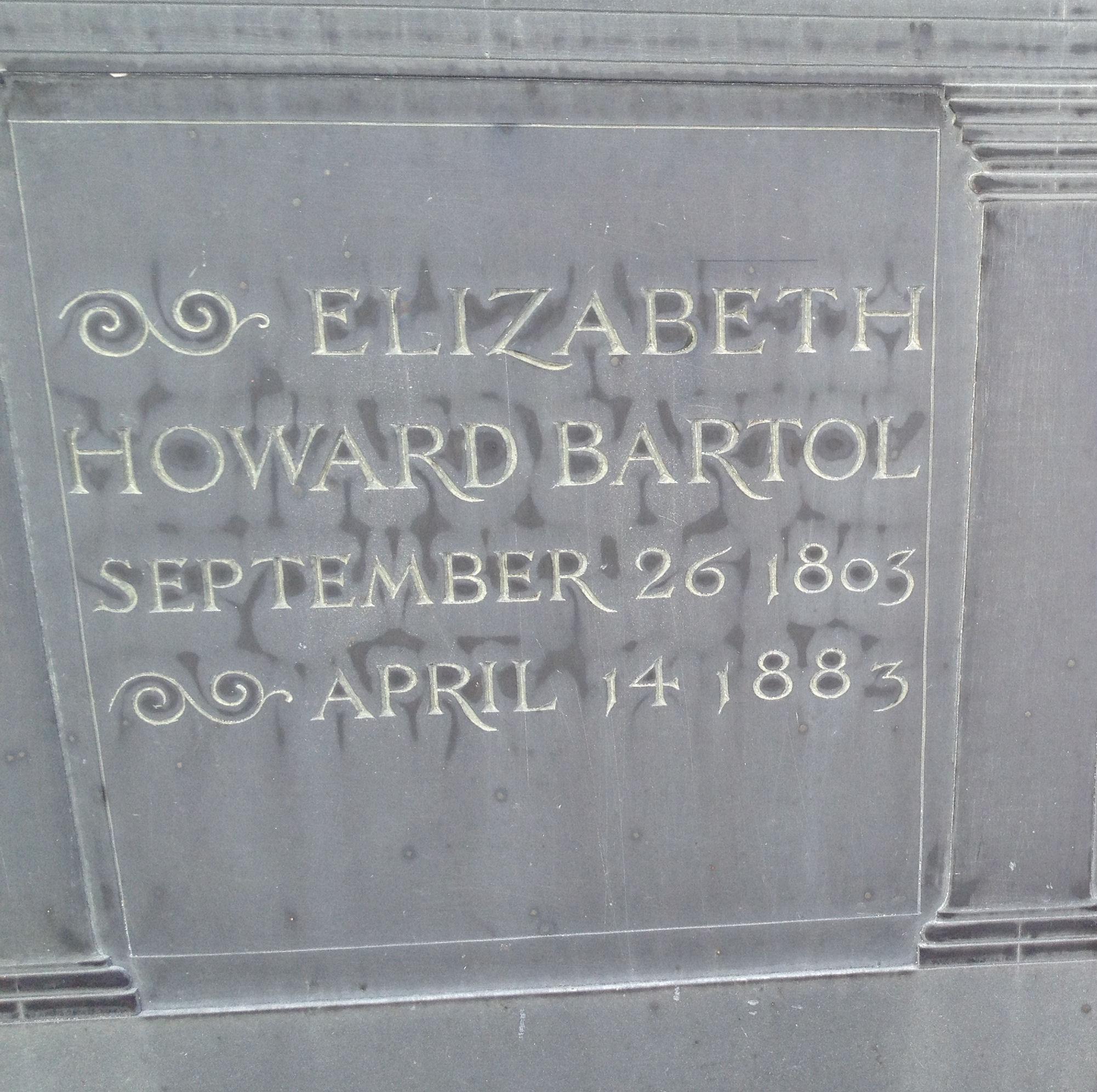 Elizabeth H <i>Howard</i> Bartol