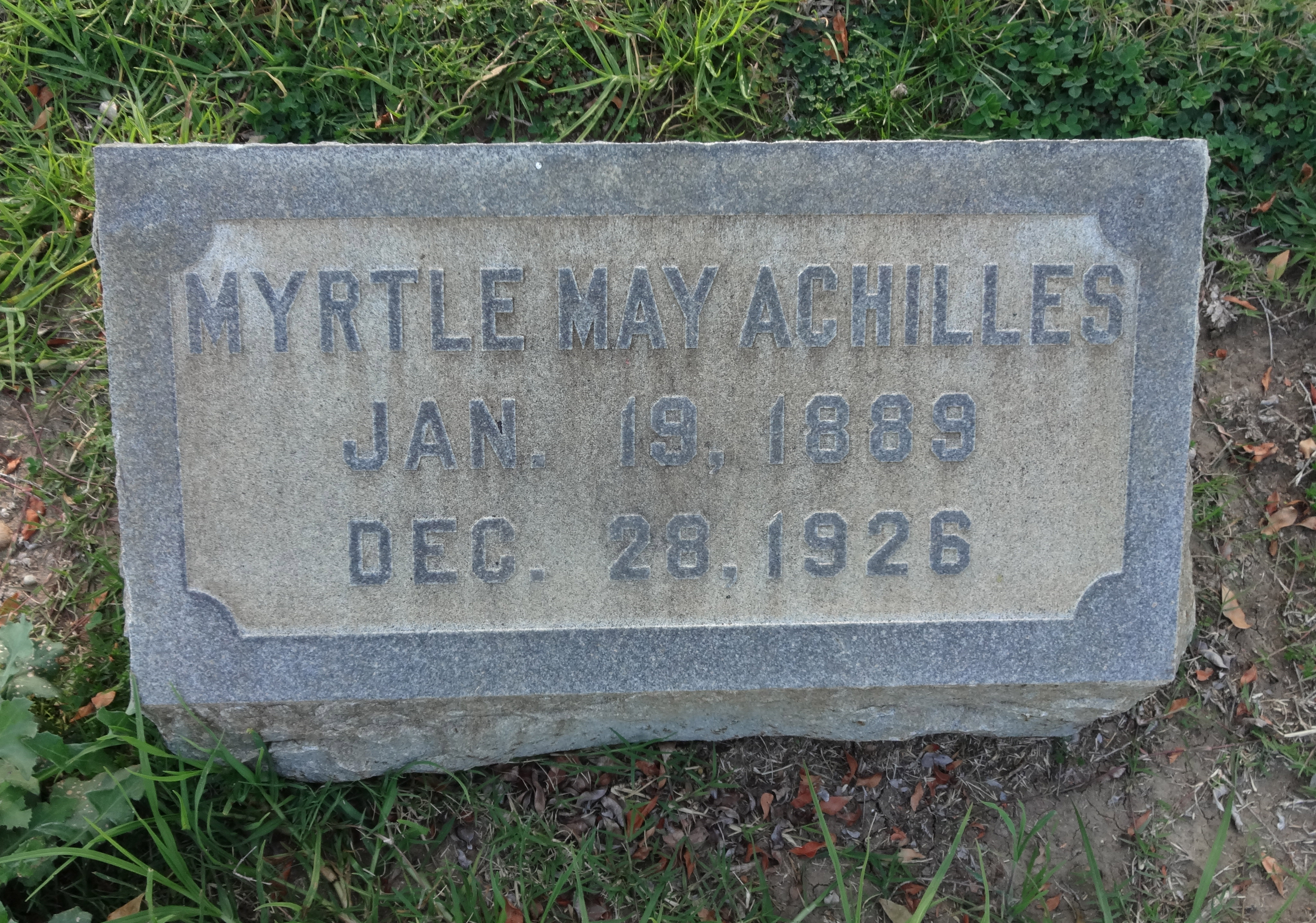 Myrtle May <i>Meyers</i> Achilles
